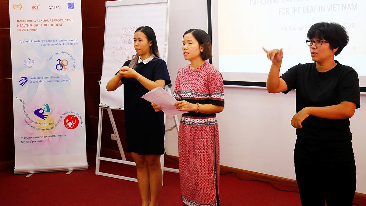 Hội thảo nâng cao nhận thức về quyền sức khỏe  sinh sản và tình dục cho người Điếc tại Việt Nam – 06/2019